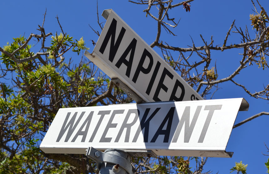 De Waterkant Village - signpost