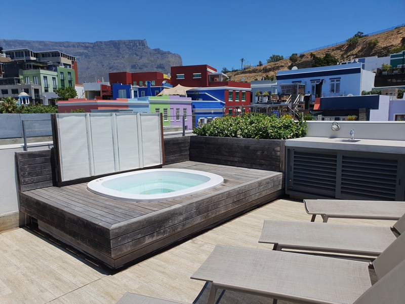 76 Waterkant Street - roof terrace hot tub & view