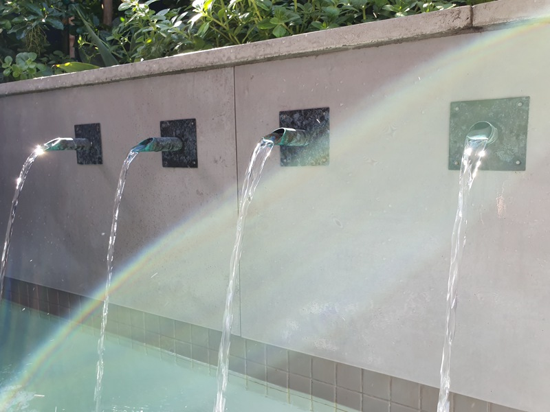 92 Waterkant Street - pool fountain