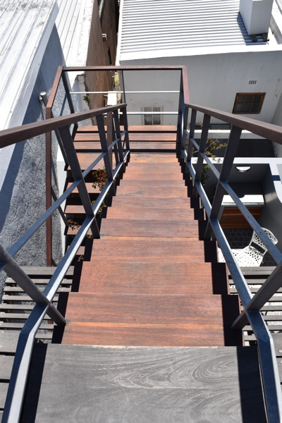 10 Loader Street - pool terrace stairs to roof deck
