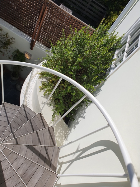 42 Napier Street - spiral stairs to roof deck