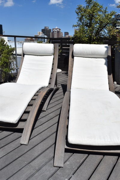 10 Loader Street - roof deck sun loungers