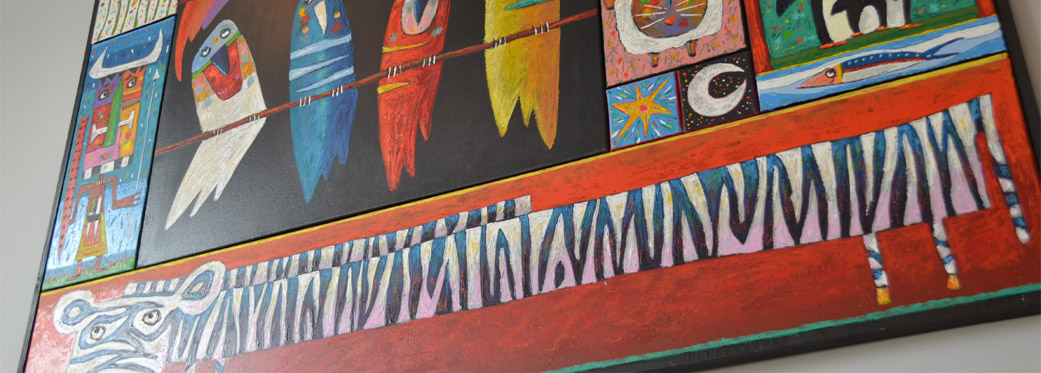 76 Waterkant Street - living area artwork