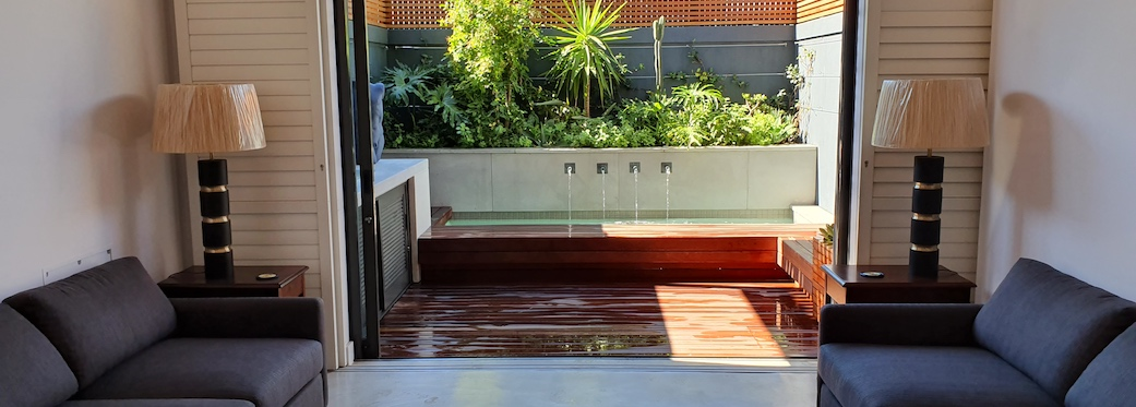 92 Waterkant Street - living area & pool deck